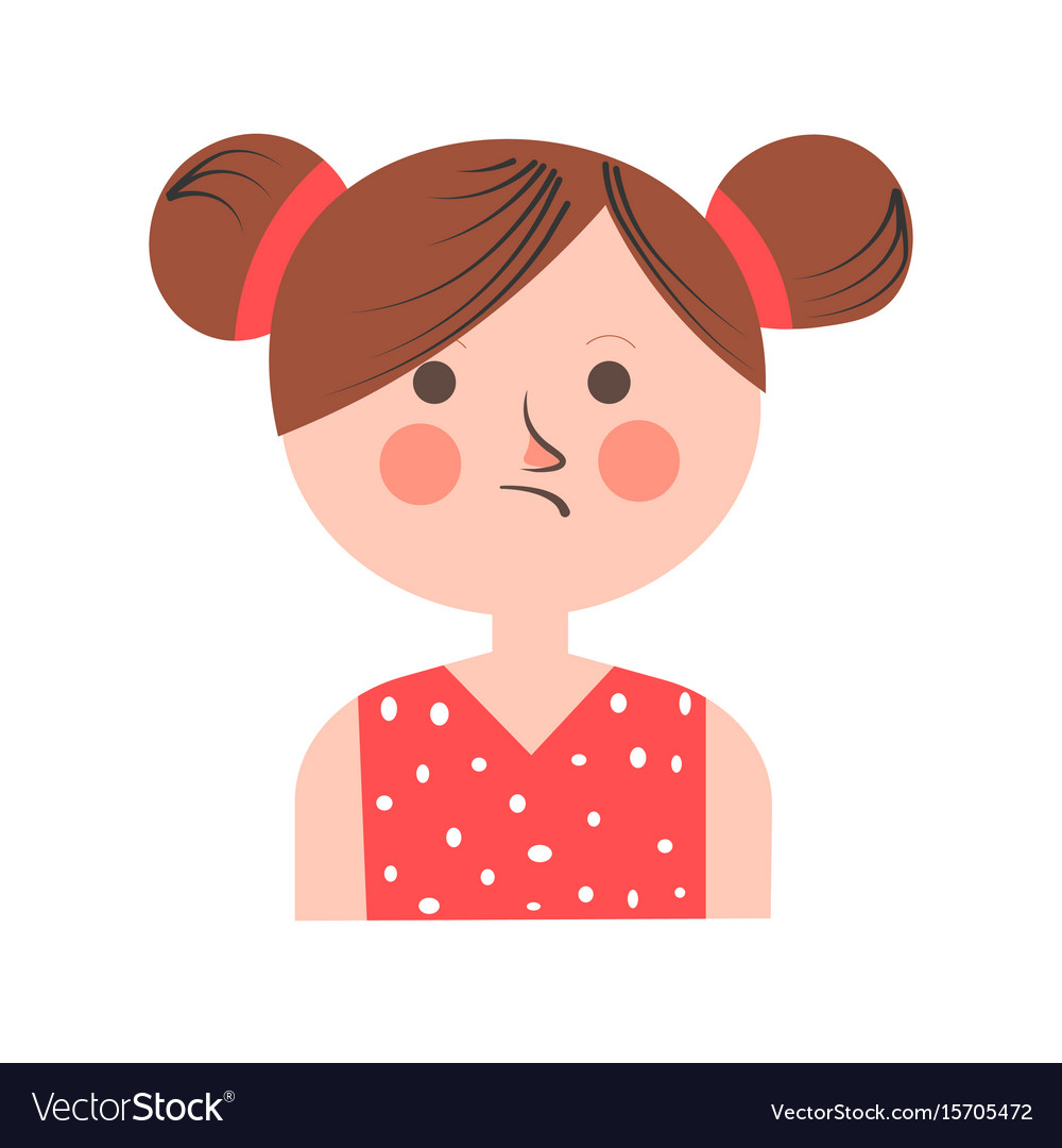 teenager-girl-in-bad-mood-with-paid-hair-on-white-vector-15705472
